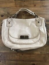 Coach Kristin White Embossed Python Handbag Purse Crossbody 16833