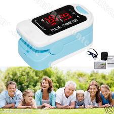 CMS50M Fingertip Pulse Oximeter Spo2 Monitor, Blood Oxygen, LED, Lanyard blue
