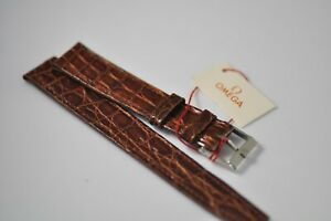 Omega 16mm Vintage Band Strap with Stainless Steel Buckle NOS