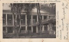 Postcard Colonial Building + Colonnade Mineral Spring Bedford Springs Pa #2