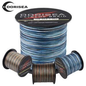 Dorisea Blue Camouflage PE Braided Fishing Line 100m/300m/1000m/2000m 6lb~300lb