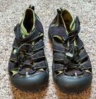 KEEN Men's Newport H2 Sandals Water Shoes Size 3 Black Green