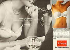 Publicité Advertising 1982  ( Double page )  Lingerie Triumph Print AD