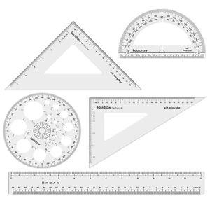 Liquidraw Set Square Triangle Ruler Geometry Set Professional Protractor Set 5