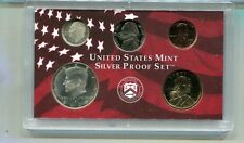 2000 S 5 COIN 90% SILVER UNITED STATES PROOF SET 1007K