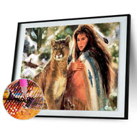 Beauty Big Cat 5D Diamond Painting Embroidery DIY Cross Stitch Home Decor $S1