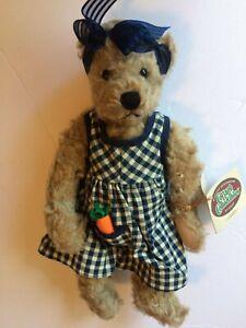 Vintage 1997 Ganz 12 inch Teddy Bear Candice Signed by Artist Mary Holstad