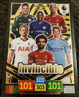 2019/20 PANINI Adrenalyn XL EPL Soccer Card - INVINCIBLE #468 Salah Van Dijk