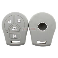4 Buttons Smart Remote Key Silicone Skin Case Cover Fit For Nissan Sentra Gray