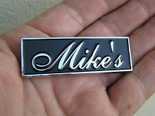 UK ~ MIKE'S CAR BADGE Chrome Metal Emblem To Personalise Your Car Michael *NEW!*