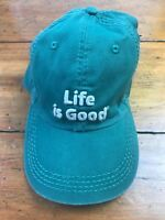 NWT Life is Good B&B Chill Adjustable Embroidered Baseball Cap Green