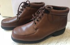 Padders Brown Leather Upper Lace Up Ankle Boots Shoes Size UK 6