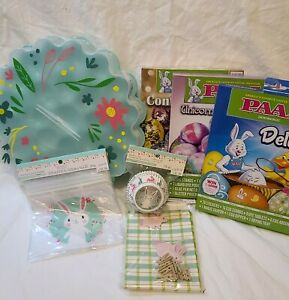 New 2020 (7pc) Easter Egg Celebrate it Party: Bunny PAAS Egg Treat Bags Cups 5A