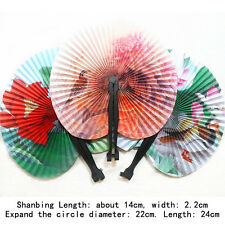 2pcs Hand Held Mini Folding Chinese Style Paper Fans Wedding Party for Women Cub