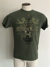 House of Blues Chicago guitar and lions green tee shirt size Medium