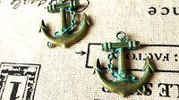 Anchor charms 4 antique bronze patina vintage style pendant charm C152