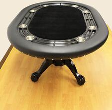 Luxury MRC Poker Table MINI MONARCH Black Solid Wood Legs Black Felt