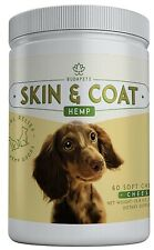 Hemp Skin & Coat Soft Chews for Dogs - 60 Count, Cheese