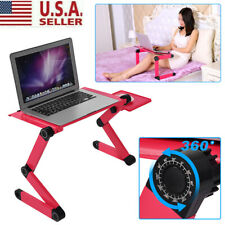 Adjustable Portable Laptop USB Desk Table Bed Cooling Fans Stand Tray Foldable