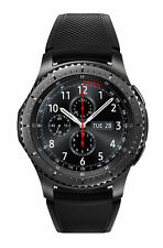 Samsung Galaxy Gear S3 frontier 46mm Stainless Steel Case Black Sport Band Watch