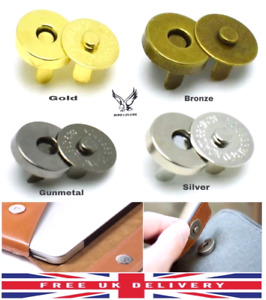 18MM MAGNETIC BUTTON SNAP FASTENERS  CLOSURES CRAFT PURSE HAT BAG VARIOUS QNT