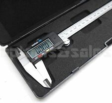 "8"" Digital Electronic Caliper Precision Stainless Inch/Metric LCD Dial w/ Case"
