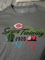 Cincinnati Reds T Shirt Mens Size XL Grey Spring Training 2020 RARE