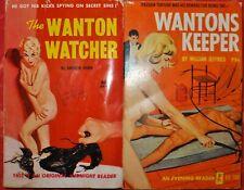 WANTON'S KEEPER,THE WONTON WATCHER 2 ADULT VINTAGE EROTICA PAPERBACKS