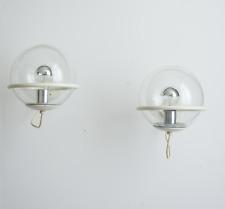 Paire d'appliques Arteluce Gino Sarfatti modèle 239 blanc crème verre années 50