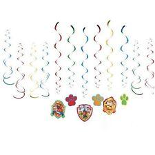 Paw Patrol Hanging Swirls Decorating Kit 12pcs Swirling Decor Birthday Party