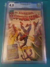 Amazing Spider-Man #21 (1965) 💥 CGC 4.0 💥 Human Torch Comic marvel silver age
