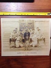 1912 Lander's Engineers Baseball Team Photo Champioship Trophy, Bat, Gloves Imag