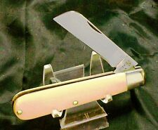 Schrade 175 Pruning Knife W/Brilliant Nickel Silver Bolsters Composition Handle