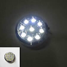 12V AUTO ROTONDE soffitto CUPOLA LUCE INTERNO LAMPADA 9 LED ON / OFF SWITCH