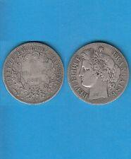 Gertbrolen 2 Francs argent Cérès  1887 Paris Exemplaire Numéro 1