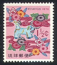 Ryukyus 1970 New Year/Dog/Animals/Greetings 1v (n25921)