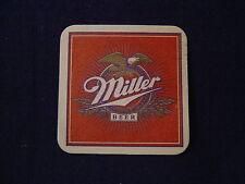"""MILLER BEER CARDBOARD COASTER VINTAGE 3 3/8"""" SQUARE"""