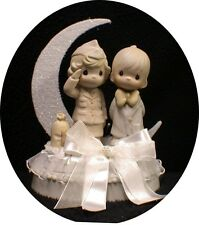 Precious Moments Bride Soldier Officer Military Wedding Cake Topper Army navy