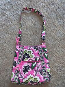 Vera Bradley Priscilla Pink Paisley Cross Body Crossbody Purse Bag Hipster