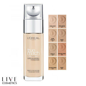 L'Oreal Paris True Match Liquid Foundation 30ml **CHOOSE YOUR SHADE**
