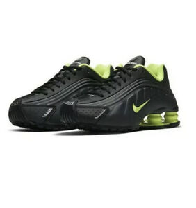 Nike Shox R4 GS Black Volt New Trainers Sneakers UK 6