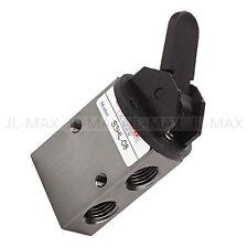 "G1/4"" 2 Position 3 Way Pneumatic Mechanical Valve S3HL-08 Aluminium Alloy"