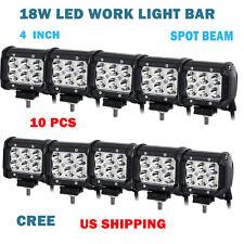 "10x 4"" 18W CREE LED WORK LIGHT BAR SPOT BEAM Pickup Wagon UTB Cab Tractor UTE"
