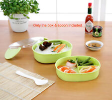 Two Layers Children Kids Portable Bento Lunch box With Spoon food-safe Plastic