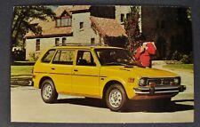 1975 Honda Civic CVCC Wagon Postcard Brochure Excellent Original 75