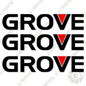 """Grove Logo Decal Kit 60"""" (Set of 3) - Aftermarket Kit - 7 YEAR 3M VINYL!"""