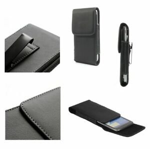 for BQ Aquaris X Case Metal Belt Clip Synthetic Leather Vertical Premium