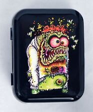 JOHNNY ACE MONSTER BIG DADDY RATFINK WEIRDO LOWBROW HINGED TOBACCO TIN MINT PILL
