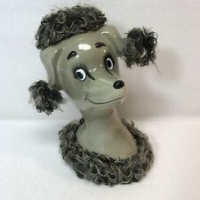 Vintage Poodle Dog Savings Coin Bank Ceramic Japan 50s Mid Century Collectible
