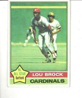 1976 Topps #10 LOU BROCK HOF St. Louis Cardinals Baseball Card